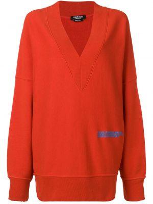 Bluza z długimi rękawami bawełniana z dekoltem w serek Calvin Klein 205w39nyc