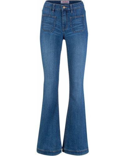 Синие джинсы стрейч Bonprix