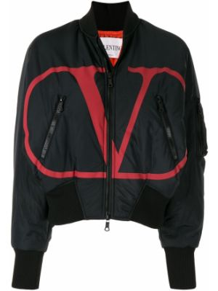 Куртка черная на молнии Valentino