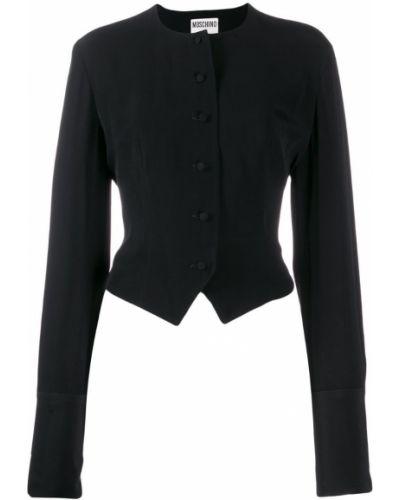 Черная длинная куртка с манжетами Moschino Pre-owned