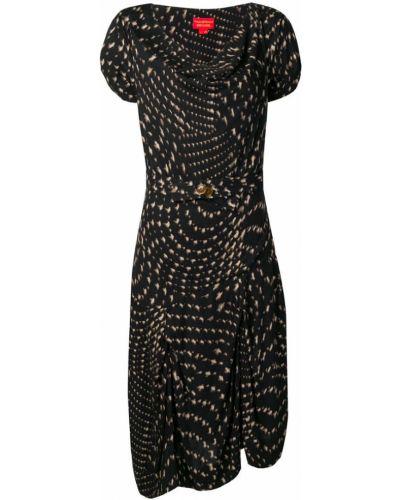 Приталенное асимметричное платье мини винтажное с вырезом Vivienne Westwood Pre-owned