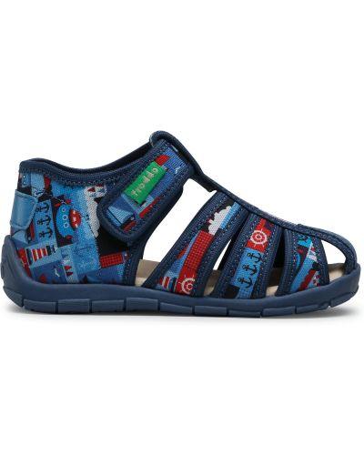 Кожаные тапочки - синие Froddo