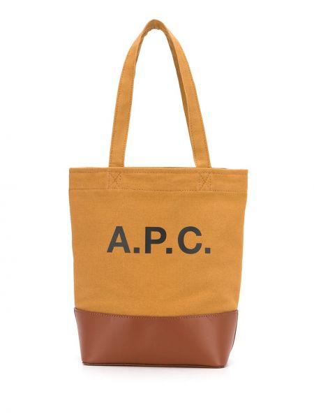 Skórzana torebka mini na ramię A.p.c.