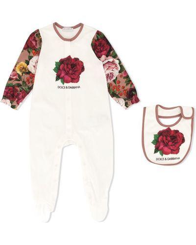 Piżama z nadrukiem długo Dolce & Gabbana Kids