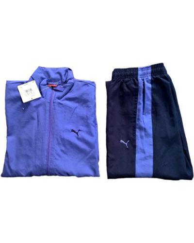 Niebieski garnitur z długimi rękawami rozpinany Puma