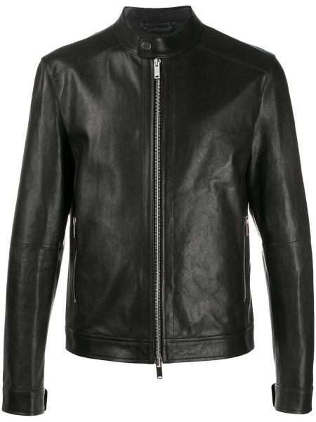 Прямая черная куртка на молнии с карманами Desa 1972