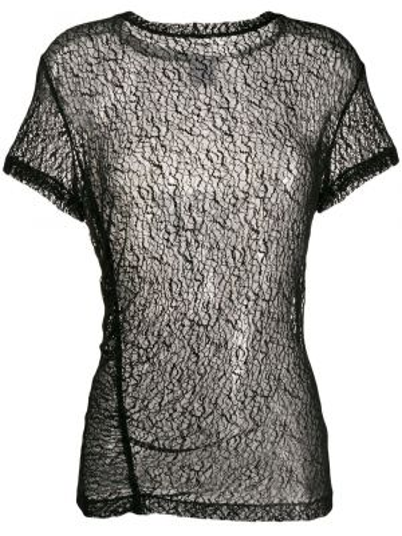 Блузка с короткими рукавами - черная Gaelle Bonheur