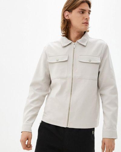 Серая демисезонная куртка Defacto