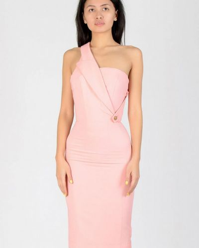 Вечернее платье весеннее розовое Kriza