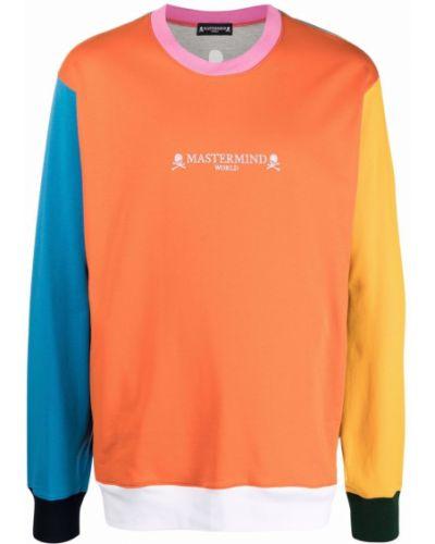 Pomarańczowa bluza długa z długimi rękawami bawełniana Mastermind World