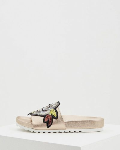 Коричневое сабо кожаные Twin-set Simona Barbieri