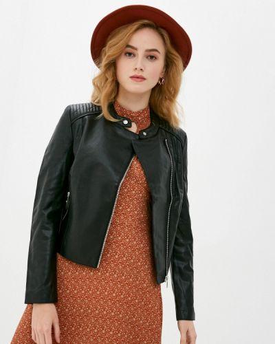 Черная кожаная куртка Zolla