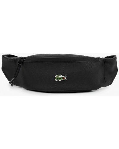 Черная поясная сумка Lacoste