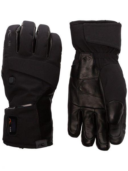 Перчатки с логотипом - черные Kjus
