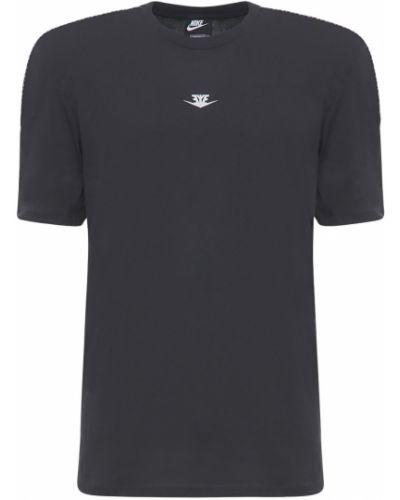 Golf z rękawami czarny top Nike