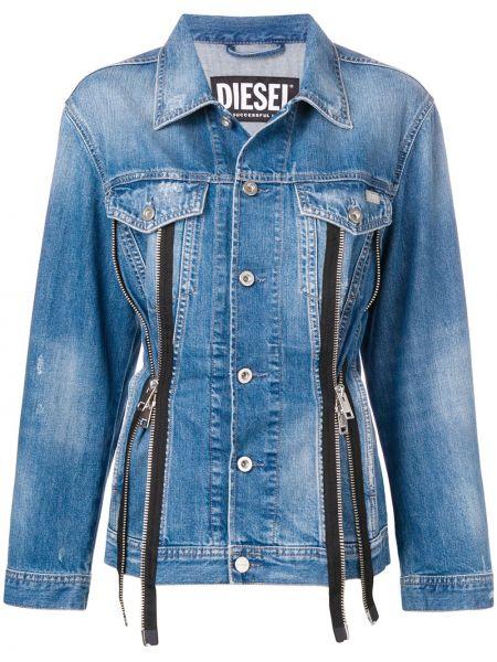 Джинсовая куртка на пуговицах классическая Diesel