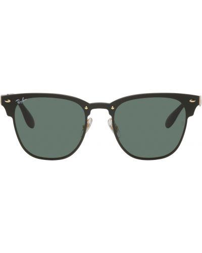 Białe złote okulary Ray-ban