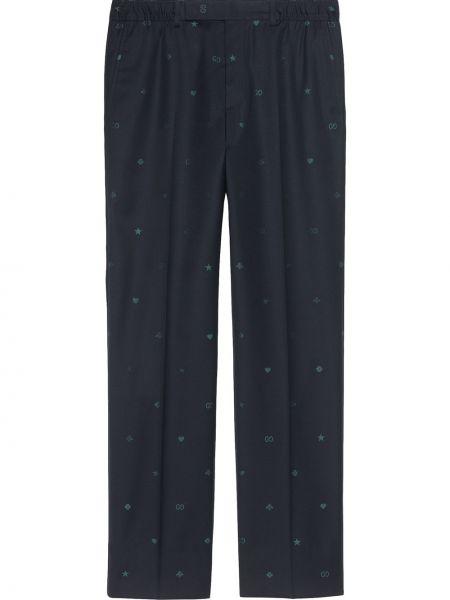 Klasyczny niebieski majtki z kieszeniami na hakach Gucci