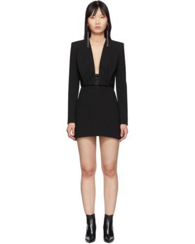 Платье макси с открытой спиной на пуговицах Saint Laurent