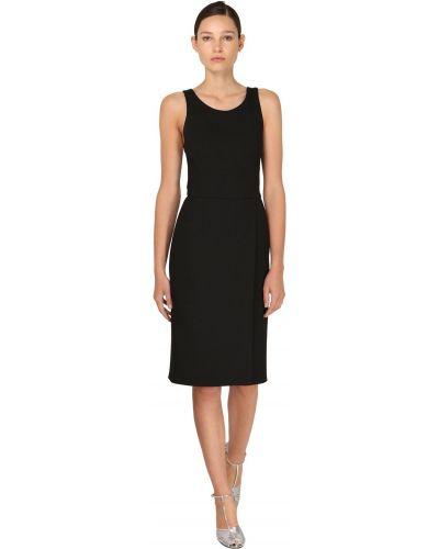 Приталенное платье мини с декольте из крепа без рукавов Givenchy