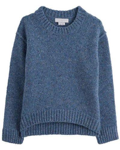Niebieski z kaszmiru długi sweter oversize Stella Mccartney