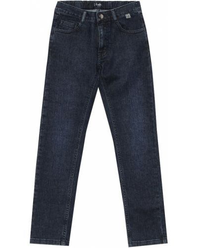 Bawełna bawełna niebieski jeansy rozciągać Il Gufo