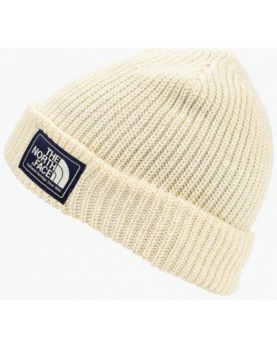 Белая шапка осенняя The North Face