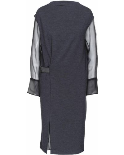 Серое платье макси Brunello Cucinelli