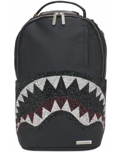 Кожаный рюкзак - черный Sprayground