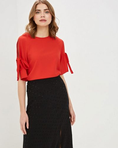 Блузка с коротким рукавом весенний красная Modis