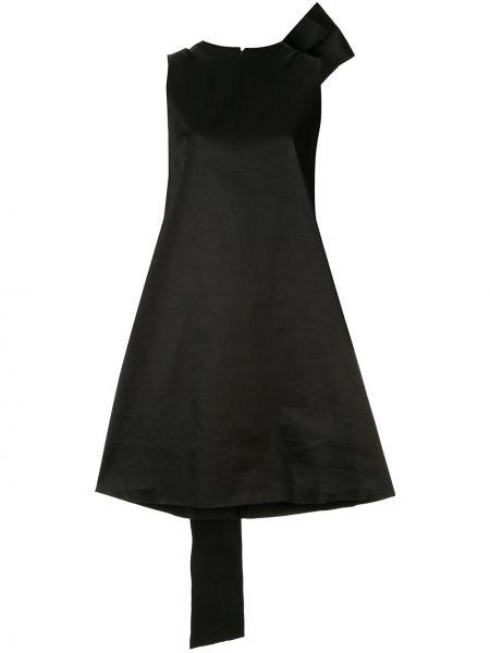 Асимметричное платье мини на молнии с бантом без рукавов Yang Li