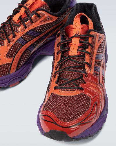 Фиолетовые текстильные кроссовки Asics