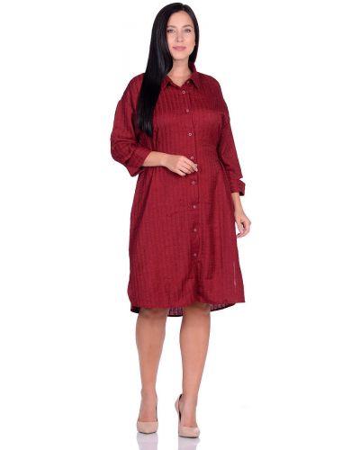 Платье-рубашка с поясом в полоску с разрезом Dream World