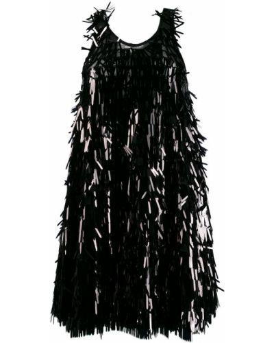 Платье с пайетками с бахромой Norma Kamali