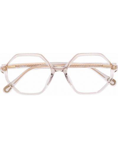 Beżowe okulary Chloé Kids