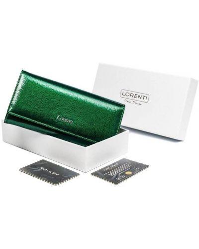 Zielony portfel skórzany Lorenti