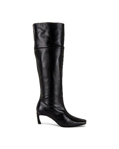 Черные сапоги квадратные с квадратным носком на молнии Reike Nen