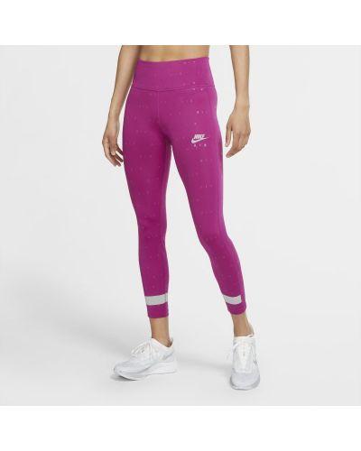Różowe legginsy do biegania z printem Nike