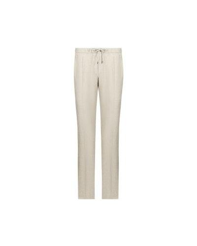 Бежевые шерстяные брюки повседневные Enrico Mandelli
