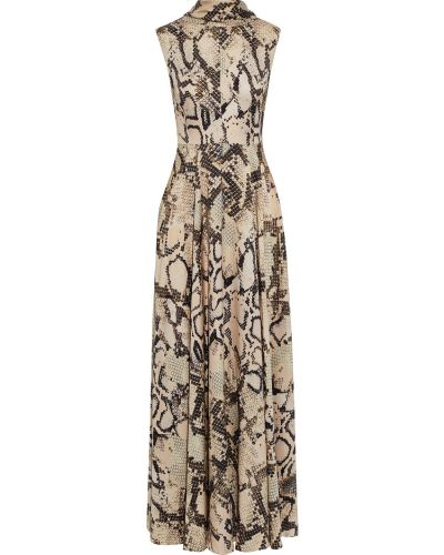 Песочное платье макси на крючках из вискозы Solace London