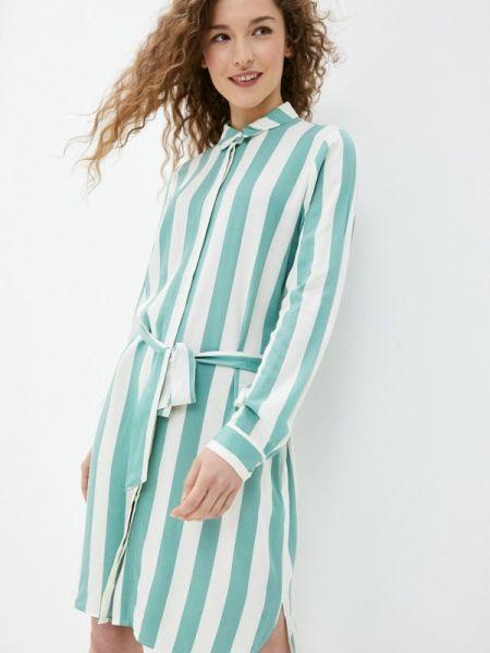 Платье платье-рубашка зеленый Ichi