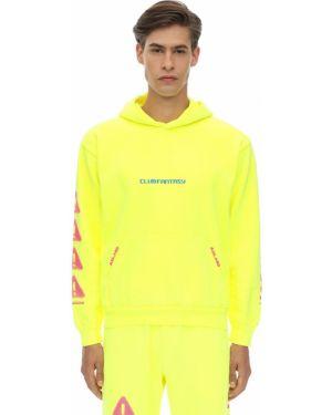 Żółta bluza z kapturem bawełniana Club Fantasy