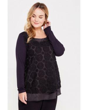 Черная блузка с длинным рукавом Keyra