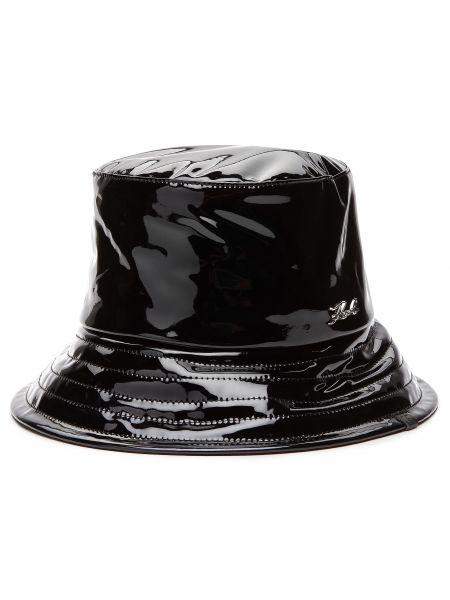 Czarna kapelusz Karl Lagerfeld