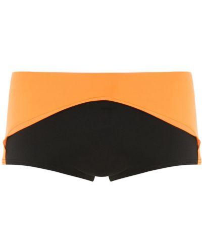 Черные плавки эластичные с декоративной отделкой Amir Slama