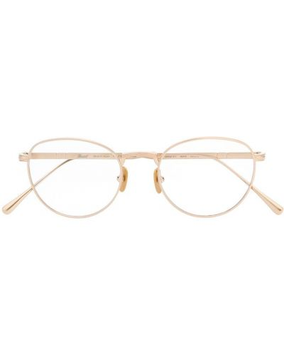 Золотистые желтые очки кошачий глаз прозрачные Persol