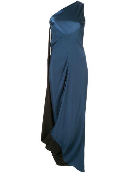 Синее приталенное вечернее платье Bianca Spender