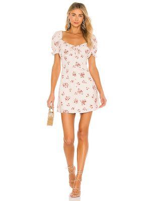 Домашнее бежевое платье мини с подкладкой Bardot