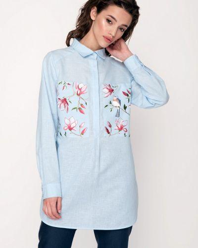 Голубая блузка Garmoniya