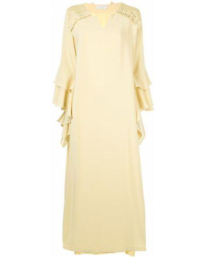 Свободное желтое платье на молнии Mounay
